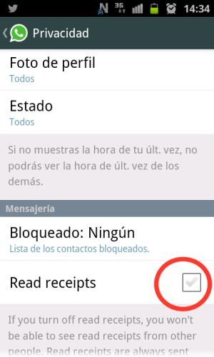 Whatsapp doble check azul
