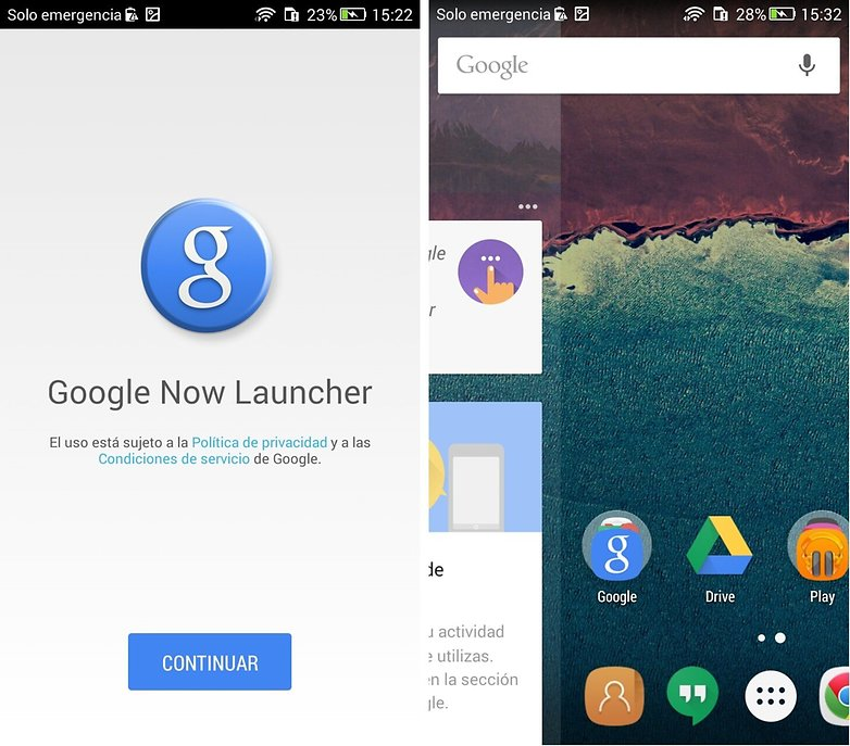 Google Now Launcher Android Marshmallow
